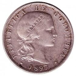 מטבע > 20סנטאבו, 1897 - קולומביה  - obverse