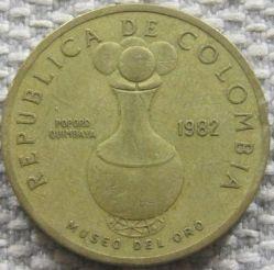 Moneda > 20pesos, 1982-1989 - Colòmbia  - obverse