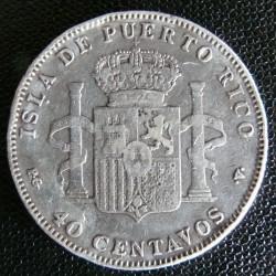 錢幣 > 40分, 1896 - 波多黎各  - reverse
