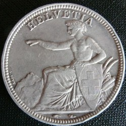 Moneta > 5franchi, 1850-1874 - Svizzera  - obverse