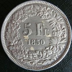 Moneta > 5franchi, 1850-1874 - Svizzera  - reverse