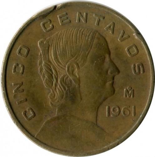 5 Centavos 1954 1969 Mexico