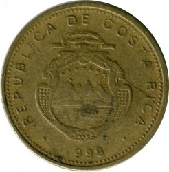Монета > 5колонів, 1999 - Коста-Ріка  - reverse