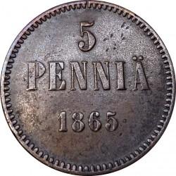 سکه > 5پنیا, 1865-1875 - فنلاند  - reverse