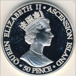 Moneta > 50pensów, 2001 - Wyspa Wniebowstąpienia  (100 rocznica śmierci - Królowa Victoria ) - obverse