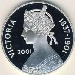 Moneta > 50pensów, 2001 - Wyspa Wniebowstąpienia  (100 rocznica śmierci - Królowa Victoria ) - reverse