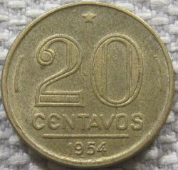 Coin > 20centavos, 1948-1956 - Brazil  (Ruy Barbosa de Oliveira) - obverse