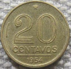 Coin > 20centavos, 1948-1956 - Brazil  (Ruy Barbosa de Oliveira) - reverse