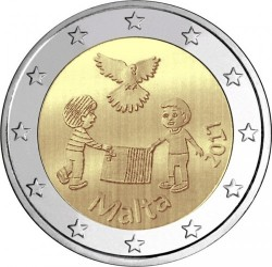 錢幣 > 2歐元, 2017 - 馬爾他  (和平) - reverse