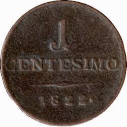 Монета > 1чентезимо, 1822-1834 - Ломбардо-Венеційське  - reverse