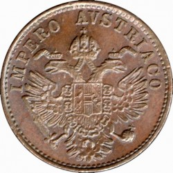 Монета > 1чентезимо, 1852 - Ломбардо-Венеційське  (Діаметр - 15 мм) - obverse