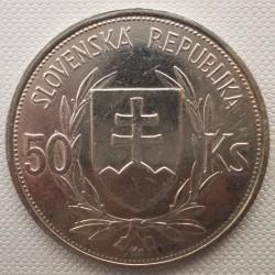 Moneta > 50corone, 1944 - Slovacchia  (5° anniversario - Repubblica slovacca) - obverse