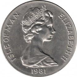 Moneda > 1corona, 1981 - Isla de Man  (Duke of Edinburgh Award Scheme /monogram/) - obverse