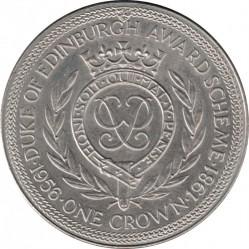 Moneda > 1corona, 1981 - Isla de Man  (Duke of Edinburgh Award Scheme /monogram/) - reverse