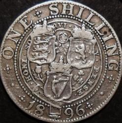 Moneda > 1shilling, 1896 - Regne Unit  - reverse