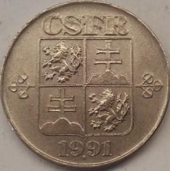 Moneta > 5koron, 1991-1992 - Czechosłowacja  - obverse