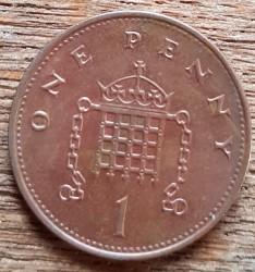 Монета > 1пенни, 1999 - Великобритания  (Бронза /не магнетик/) - obverse