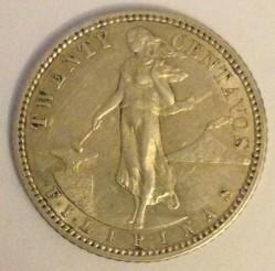 Monēta > 20sentavo, 1907-1929 - Filipīnas  - obverse
