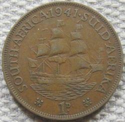 Münze > 1Penny, 1937-1947 - Südafrika   - obverse