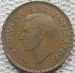 Münze > 1Penny, 1937-1947 - Südafrika   - reverse