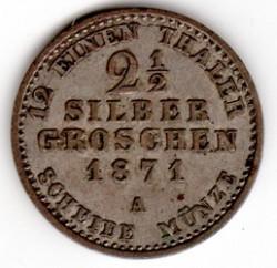Moneda > 2½silbergroschen, 1861-1873 - Prusia  - reverse