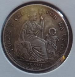 Moneda > ⅕sol, 1888-1917 - Perú  - obverse