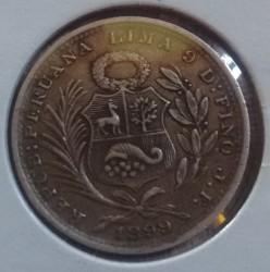 Moneda > ⅕sol, 1888-1917 - Perú  - reverse