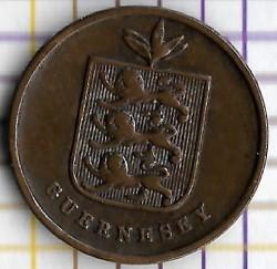 Moneda > 1double, 1868 - Guernsey  - obverse
