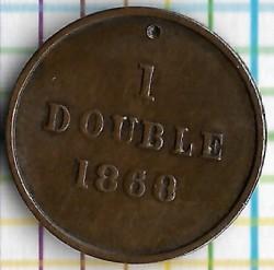 Moneda > 1double, 1868 - Guernsey  - reverse