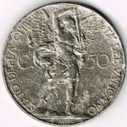 Монета > 50чентезимо, 1929-1937 - Ватикан  - reverse