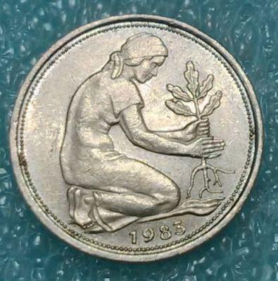 50 Pfennig 1983 Deutschland Münzen Wert Ucoinnet