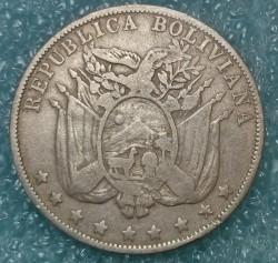 Mynt > 10centavos, 1892 - Bolivia  - obverse