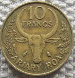 錢幣 > 10法郎, 1971 - 馬達加斯加  - reverse