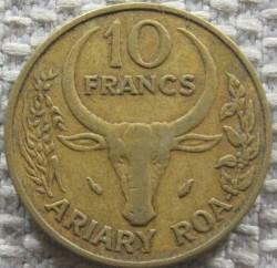 錢幣 > 10法郎, 1979 - 馬達加斯加  - reverse