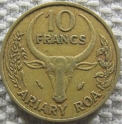 錢幣 > 10法郎, 1982 - 馬達加斯加  - reverse