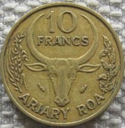 錢幣 > 10法郎, 1986 - 馬達加斯加  - reverse