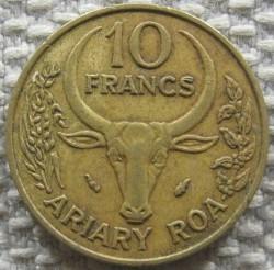 Moeda > 10francos, 1988 - Madagáscar  - reverse