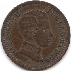 Moeda > 2cêntimos, 1904 - Espanha  - obverse