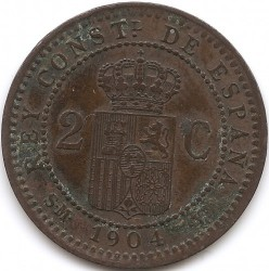 Moeda > 2cêntimos, 1904 - Espanha  - reverse