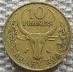 錢幣 > 10法郎, 1989 - 馬達加斯加  - reverse