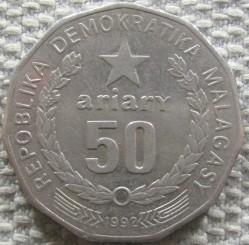 Кованица > 50ариариа, 1992 - Мадагаскар  - reverse