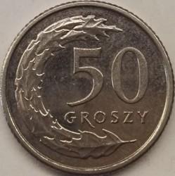 Monedă > 50groși, 2017-2018 - Polonia  - reverse