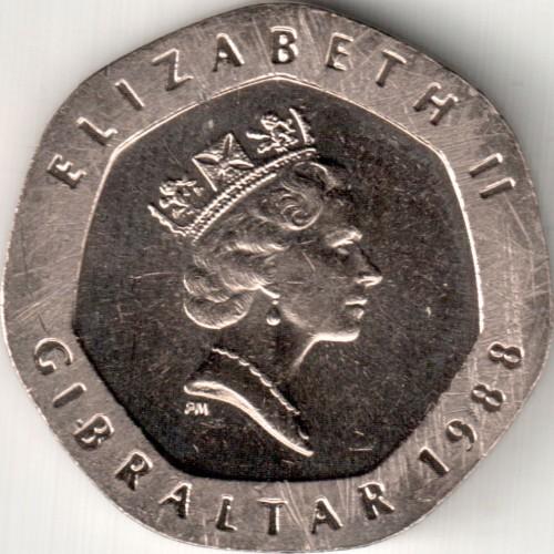 20 Pence 1988 1997 Gibraltar Münzen Wert Ucoinnet