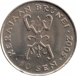 Minca > 10sen, 1993-2016 - Brunej  - reverse