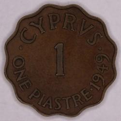 Mynt > 1piastre, 1949 - Cypern  - reverse