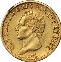 Moneta > 20lire, 1821-1831 - Sardegna  - obverse