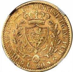 Moneta > 20lire, 1821-1831 - Sardegna  - reverse