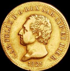 Moneta > 40lire, 1822-1831 - Sardegna  - obverse