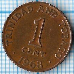Monedă > 1cent, 1966-1973 - Trinidad și Tobago  - obverse