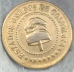 Monēta > 2½sentavo, 1886 - Kolumbija  - obverse